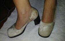 Scarpe décolleté beige ciniglia  37 usate tacco 8 cm comode cuoio