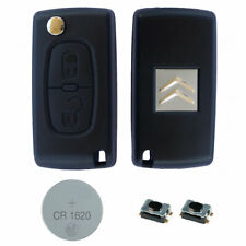 Citroen DIY Repair Kit Replacement 2 Button Remote Car Key Case with HU83 Blade