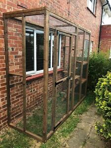 Catio / Cat Lean to 6ft x 3ft x 7.5ft tall ladders and shelves cat safe run