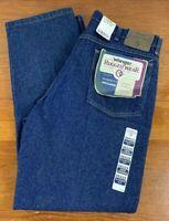 Wrangler Mens Classic Fit Rugged Wear USA Made Denim Blue Jeans- 36x29 NEW NOS
