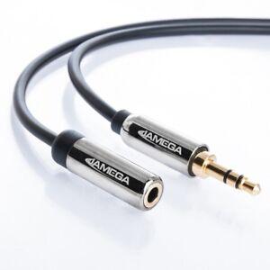 5m AUX Kabel Verlängerung 3,5mm Klinke-Stecker Stereo | für Handy MP3 iPhone PC