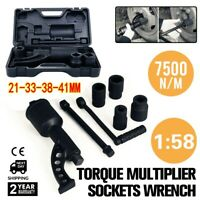 Torque Multiplier Set Lug Nut Labor Saving Wrench Remover Truck Trailer RV Semi