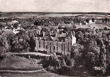 VEUDEUVRE-SUR-BARSE 9510 vue aérienne du château timbrée 1963