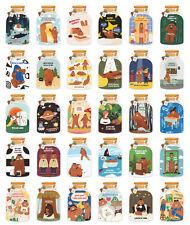LOT 30PCS Wishing Bottle Illustration  Irregular Postcard Card
