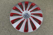 4 Alu-Design Radkappen SEPANG CARBON rot/silber 16 Zoll für Nissan