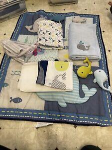Heseam Baby Boy 5 Piece Crib Bedding Set with
