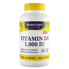Healthy Origins - Vitamin D3 1,000IU x 360 Softgels, D-3 1000iu