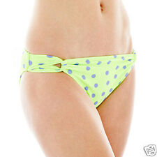 Arizona Polka Dot Loop-Tab Hipster Swim Bottoms Sizes L, XL New Msrp $28.00