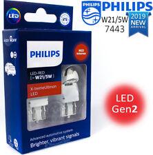 W21/5W LED NEW Philips X-treme Ultinon LED gen2 Car Signalling Bulbs Red Intense