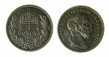 pcc1840_77) HUNGARY Franz Joseph I 1 Korona 1915 AG Toned