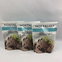 Nostalgia Chocolate Ice Cream Mix Makes 2 Quarts of Ice Cream 8 oz each Lot of 3