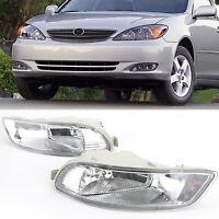 Pair Clear Front Fog Light kit For 2005-2008 Toyota Corolla Camry Solara AU TZ5