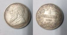 Scarce 1895 South Africa silver 1 shilling #2