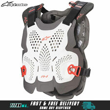 NEW Alpinestars A1 Plus Chest Roost Protector Motocross Body Armour Adults White