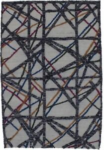 Abstract Design Contemporary 4X6 Hand Knotted Area Rug Home Decor Carpet