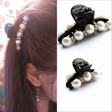 Women Hair Claw Clip Crystal Pearl Plastic Hairpin Barrette Hairband Accessories