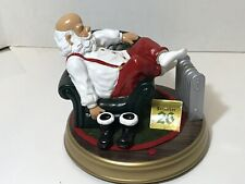 Gemmy Electronic Santa Lounging in Chair Feet Move Lights Up Musical Christmas