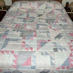 Ralph Lauren Patchwork Quilt Twin Size Soft Colors Cottagecore