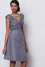 Anthropologie Ruched Crossing Dress 4 NWOT $238 Retail