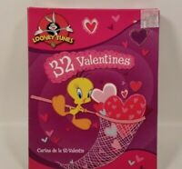 LOONEY TUNES Tweety Bugs Taz 32 Fold Valentine Cards Sealed