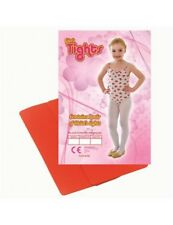4-6 Years Small Red Tights - Fancy Dress Accessory Childs Girls Dance White
