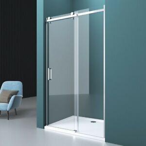 Nische Duschtür Schiebetür Duschwand ESG NANO Glas 8mm Dusche Duschabtrennung