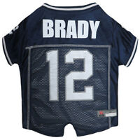 Tom Brady #12 New England Patriots Licensed NFLPA Dog Jersey Navy, Sizes XS-XL