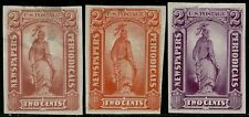 #Pr9Tc3 Trial Color Plate On India Paper; Some Faults Cv $105.00 Bq2843