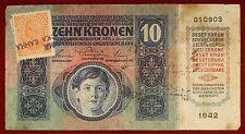 Impero Austro-Ungarico 10 Kronen 1915 Francobollo per Croazia #B1115