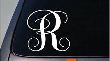 """LETTER R 6"""" monogram sticker decal truck car window teach craft initials *D789*"""