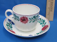Vintage Royal Staffordshire Tea Cup and Saucer White Floral Pattern England