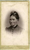 DANEMARK DENMARK ODENSE HANSEN portrait femme CDV photo circa 1890