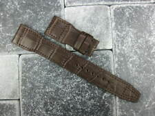 22mm Genuine Leather Deployment Strap Watch Band for BIG PILOT Brown 22 mm X