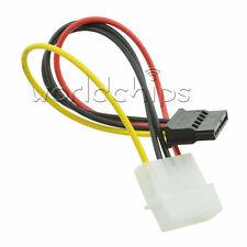 10PCS Male Female 4 Pin Power Drive Adapter Cable to Molex IDE SATA 15-Pin