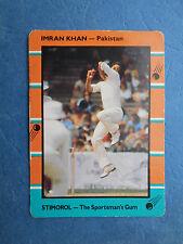 SCANLENS STIMOROL 1988/89 CRICKET CARD - Imran Khan # 128 (Pak)