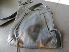 LADIES BLACK LEATHER JOE'S CROSS BODY SHOULDER BAG PURSE