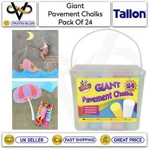 Tallon Giant Pavement Chalks Pack of 24 Art Box Street Art Mixed Colours