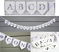 75pc Letter Alphabet Bunting Hanging Banner Garland Party Birthday 10m String WH