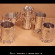 (5) 1903-06 Silver Plated Marksman Rifle & Pistol Trophys Coast Artillery