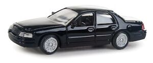 Walthers HO Scale Ford Crown Victoria Police Interceptor Unmarked Unit (Black)