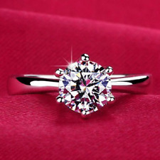 2017 Charms 925 Sterling Silver Plated Cubic Zirconia Wedding Ring Rings 8#