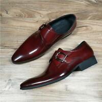 Herrenschuhe Monk Schuhe Business-Schuhe Schnalle Metall 39-48 Spitz Abend Party