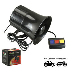 Very Loud 12V/30W Moto Car Van Siren Horn Alarm PA System 3 Different Sound Tone