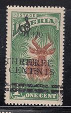 Liberia # O111b MINT Double Surchare 1920 Surcharge Fauna Antelope