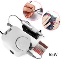 White 65W Pro Electric Nail File Drill Manicure Tool Pedicure Machine Set Tool