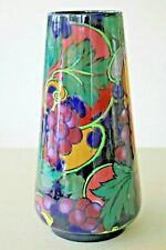 Vintage Royal Stanley Ware vase 'Jacobean pattern' 22cm high