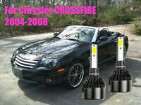 LED CROSSFIRE 2004-2008 Headlight Kit H7 6000K White CREE Bulbs Low Beam