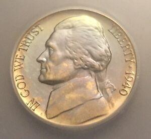 1940 Proof Jefferson Nickel Rainbow Toned ICG PR-67, Buy 3 Get $5 Off!! R6699