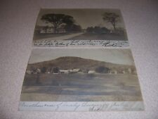 1906 TOWN-VIEWS of EAST SWANZEY NH. ANTIQUE RPPC POSTCARD LOT