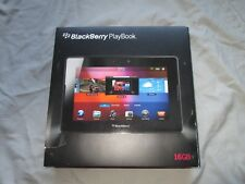 Blackberry Playbook 16GB box purchased case RDJ21WW booklets, charger, bundle